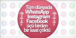WhatsApp, Instagram ve Facebook çöktü